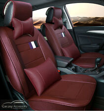 Wine Red Burgundy Car Seat Covers Mitsubishi Lancer 5 Seats Outlander Pajero