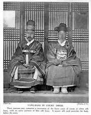 1913 Korean Yang-bans In Court Dress