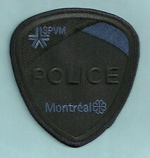 MONTREAL QUEBEC CANADA SPVM POLICE SWAT TEAM PATCH BLACK