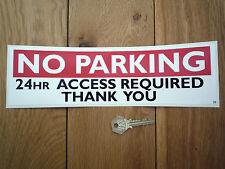 PAS DE PARKING 24hr Access Required AUTOCOLLANT Sortie/entrée de garage
