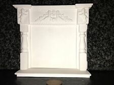 MN02 Cherub Fire Surround & Hearth Plaster - RepliCast Miniatures - Dolls House
