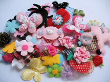 120pcs Mix Satin Organza Ribbon Flower Bow Appliques