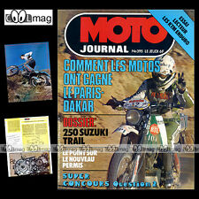 MOTO JOURNAL N°395 SUZUKI TS 250 KTM 125 175 250 ENDURO RALLYE PARIS-DAKAR 1979