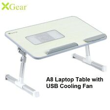 Xgear A8 Foldable Table Desk with USB Cooling Fan Grey for Laptop Notebook Study