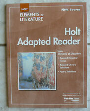 Holt Fifth Course Adapted Reader, C.5 Workbook Literature,11/11th BRAND NEW!