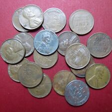 *CIRCULATED, Mixed LOT of 18 Vintage  LINCOLN WHEATCENTS, Coin Lot #2