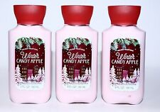 3 Bath Body Works WINTER CANDY APPLE Travel Size Hand Cream / Body Lotion 3 oz.