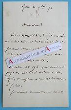 L.A.S Auguste DUCOIN 1871 Avocat Grenoble Lyon Compagnie des fonderies FLAUBERT