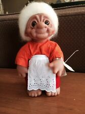 "Vintage Norfin Grandma Troll Doll Style 7001 with original tags 13"" tall"