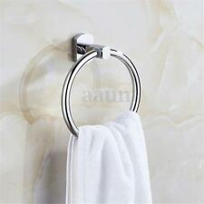 Sliver Wall Mounted Towel Ring Hand Towel Rack Holder Accessories for Bathroom