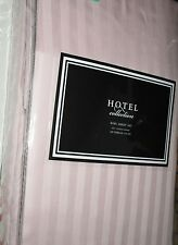 HOTEL Collection 100% Cotton KING Sheet Set Stripes PINK NEW NIP