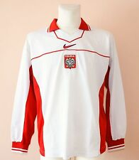 1997 POLAND, VINTAGE HOME FOOTBALL JERSEY BY NIKE, MENS XL, 188, LONG SLEEVE