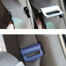 2*Car SUV Vehicle Seat Belts Safety Adjustable Stopper Buckle Plastic Clips Blue