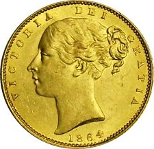1864 Victoria Gold Sovereign. Uncirculated. Spink Values £ 1250.00