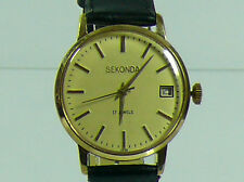 SEKONDA  MEN'S WATCH 1970's  ORIGINAL SOVIET RUSSIA ERA