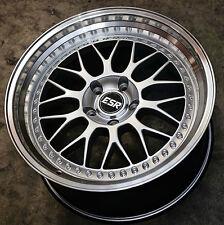 """18"""" ESR SR1 Silver Wheels For 350Z 370Z 18x9.5 +22 / 18x10.5 +22 Rims Set 4"""