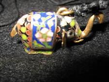 Vtg Lot of 10 brass cloisonne elephant keychain bracelet charm necklace pendant