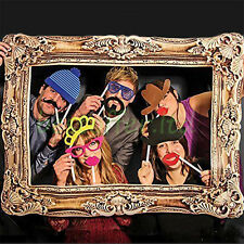 24* Selfie Frame Photo Props Christmas Family Party Wedding Masks Booth Prop Kit