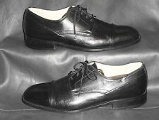 "Bally ""Rogers"" mens Black Napa leather cap toe dress oxford size 8D"