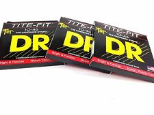 DR Guitar Strings Electric Tite-Fit 3 Pack 10-46 Medium Handmade USA