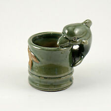 New Small Dolphin  Glazed Pottery for Hydroponics  plant  Container  no hole