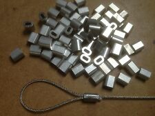 20x Aluminium Talurit Ferrules for 1mm / 1.5mm Steel Wire Rope Stainless Rigging