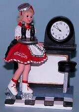 "Madame Alexander resin doll clock ""Coca-Cola Carhop"" #90885 ""Doll Face"" 2000"
