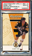 2003-04 PARKHURST ORIGINAL 6 BOBBY ORR BOSTON VINTAGE PATCH PSA 10 GEM MINT