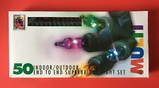 50 Vintage Christmas Lights Multi Color Indoor Outdoor Steady or Flashing