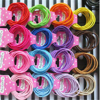 30PC Kids/girls 2 mm New small hair bands children hair bands T007F
