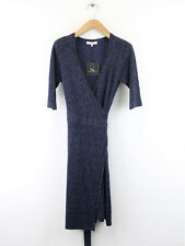 Bnwt Great Plains DONNA IMPERIAL BLU METALLIZZATO WRAP DRESS SIZE XS (UK 10)