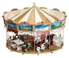 NEW ! HO Faller 140316 WORKING Carousel / Merry-Go-Round KIT for Circus or Fair
