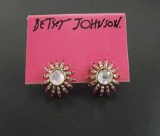 New Betsey Johnson Sun Flowers Stud Earrings Gift FS Fashion Graded Rhinestone
