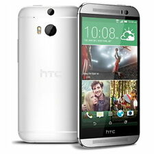 "HTC ONE M8 Phone Android 5"" Full HD 32GB Dual 4MP Camera LTE Unlocked Silver"