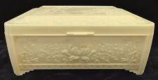 Vintage Plastic Celluloid Keepsake Box Oriental Scenes
