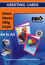 A4 Glossy Inkjet Greeting Card Paper 260g With Envelopes X 20