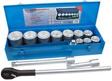 """Conjunto de llave de vaso 1"""" 15-tg caja ratschenkasten SW 36 - 65 70 75 80 mm"""