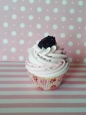 Blackberry Fake Cupcake in a Rose Standard Size Liner, Party Decor, Photo Props