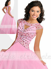 Shiny Tulle Pre-teen/Girls/ Junior Pageant Dress Prom Party Princess Ball Gown