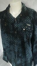 FOCUS USA INC F.U.S.A.I. FUSAI JEANS  MILITARY SHIRT SNAP-FRONT MENS SIZE XXL
