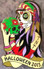 "HRC HOLLYWOOD TNT 2013 HALLOWEEN Sugar Skull Girl PIN ""Thursday Night Traders"""