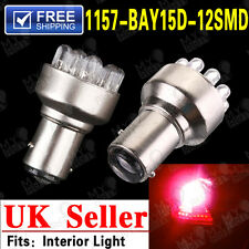 2x 1157 BAY15D P21/5W 380 12SMD LED Red Car Brake Tail Stop Turn Light Bulb 12V