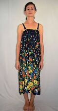Vintage 60's 70's Hippie Ethnic Summer Sun Dress by Hummelsheim of Germany M/L