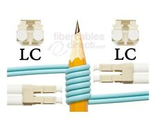 OM4 LC-LC Bend Insensitive 50/125 Multimode DX Fiber Cable - [ 12 Meter ]