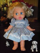 Galoob Baby Face Doll Pretty Blue Floral Dress and Panty Set