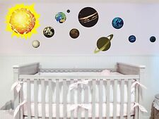 Solar System Planets Removable Art Vinyl Wall Decal Sticker Decor Baby Nursery