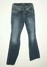WOMENS JUNIOR *SILVER* SUKI BOOT CUT FLUID DENIM JEANS SIZE 27