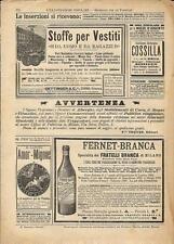 Stampa antica pubblicità STOFFE PER VESTITI OETTINGER ecc 1893 Old antique print