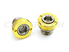 New Bicycle Bike M15 ISIS Cr-Mo Crank Axle Bolts Gold 2 Pcs/Set