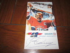 YVAN COURNYER AUTOGRAPHED MOLSON EXPORT POST CARD-CANADIENS-HOF